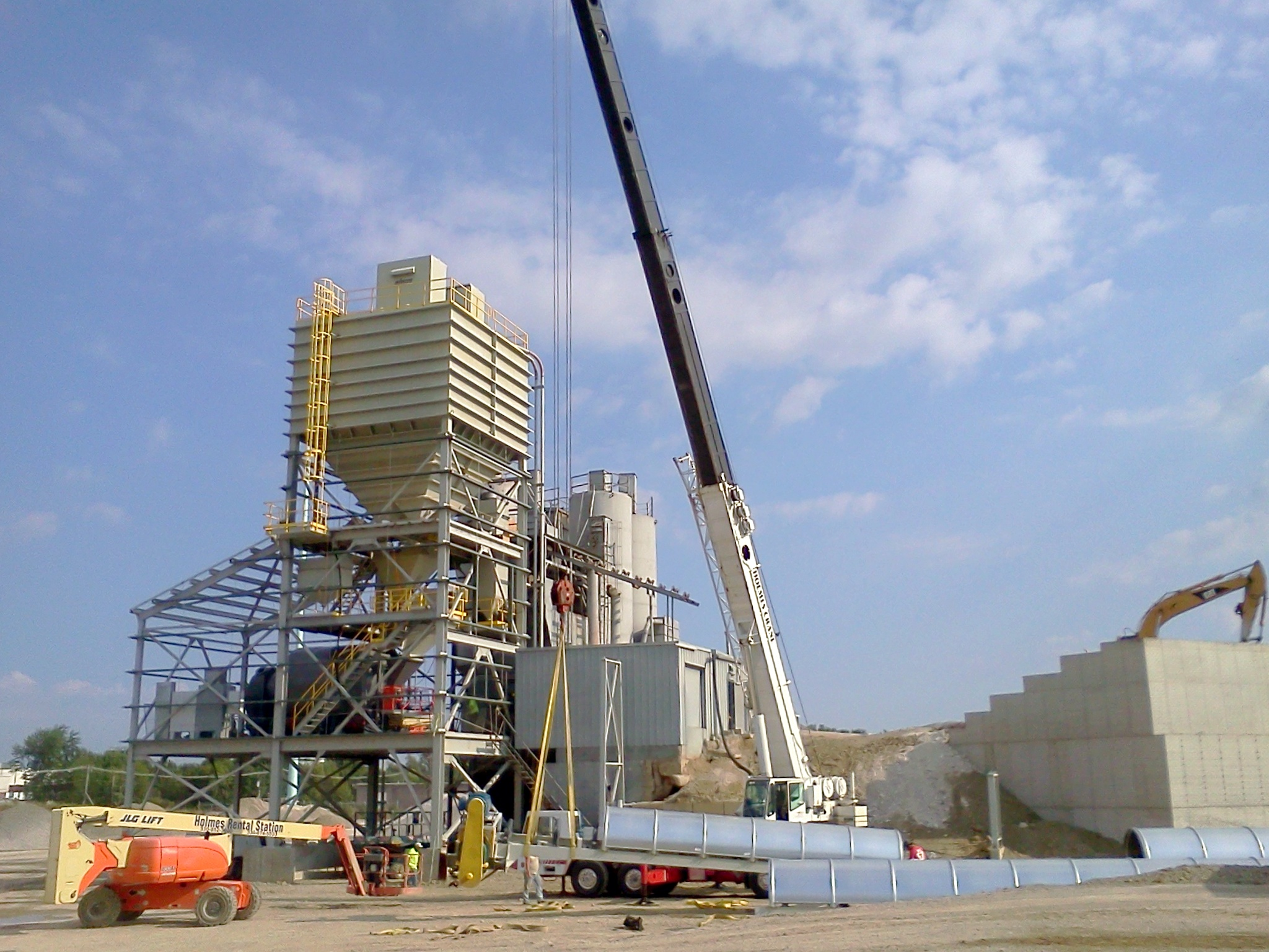 Agg Conveyor Being Set In Place
